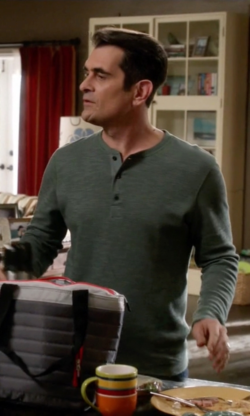 Ty Burrell with Billy Reid Hunter Henley Shirt in Modern Family