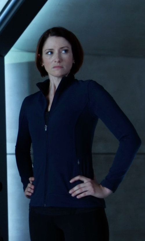 Chyler Leigh with Y-3 Zip Jacket in Supergirl