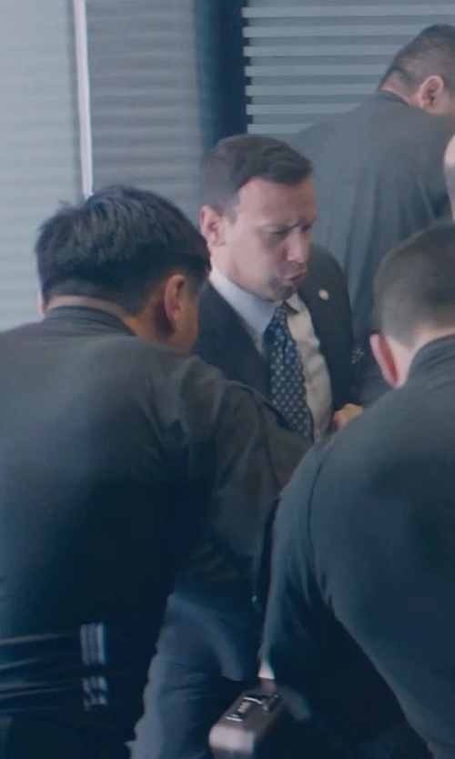 Unknown Actor with Hugo Boss Suit Black Solid Extra Slim Fit in Captain America: The Winter Soldier