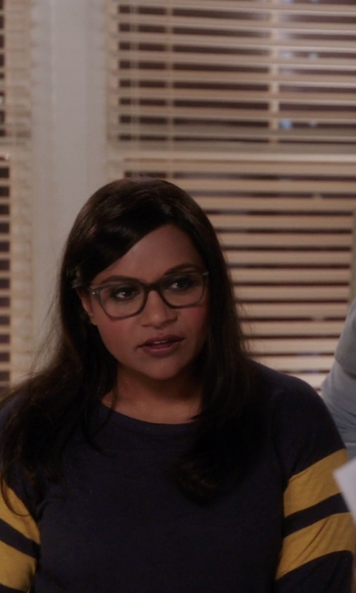 Mindy Kaling with Coach Square Frame Julayne Eyeglasses in The Mindy Project