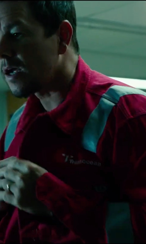 Mark Wahlberg with Dickies Hi-Vis Stripe Workwear Coverall in Deepwater Horizon