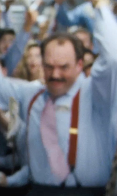 Ethan Suplee with Alexander Olch The Henderson Chambray Necktie in The Wolf of Wall Street