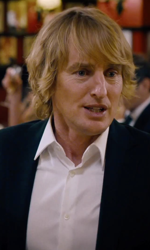 Owen Wilson with Canali Solid French Cuff Dress Shirt in She's Funny That Way