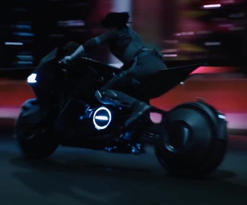 Scarlett Johansson with Honda Custom Made Motorcycle in Ghost in the Shell