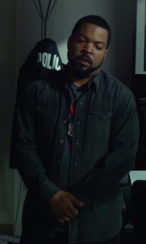 Ice Cube with Diesel Denim Pocket Shirt in Ride Along