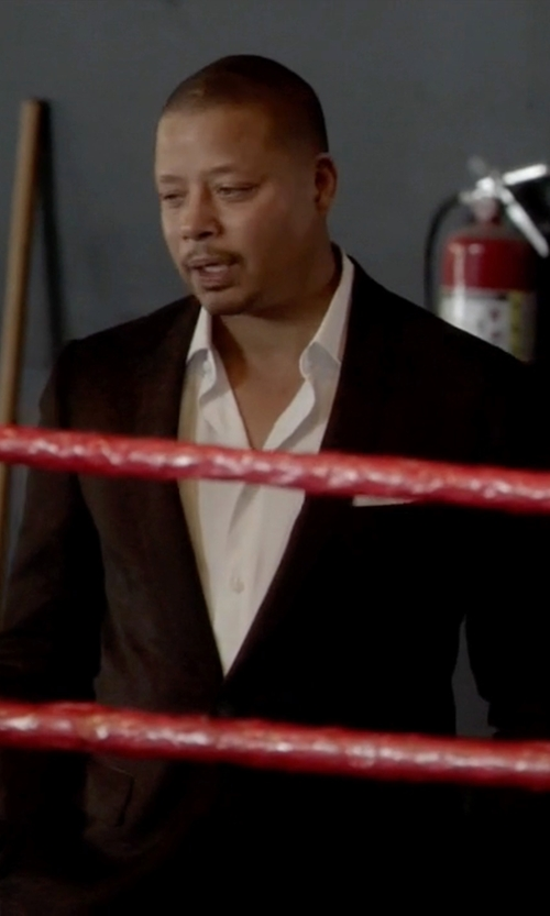 Terrence Howard  with Lanvin Classic Two-Piece Suit in Empire