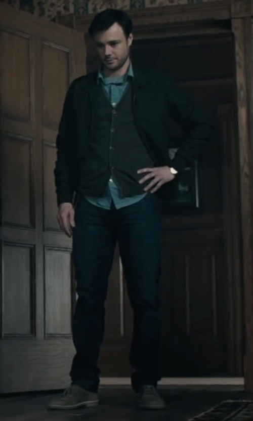 Rupert Evans with Ralph Lauren Denim & Supply Straight Leg Jeans in The Boy