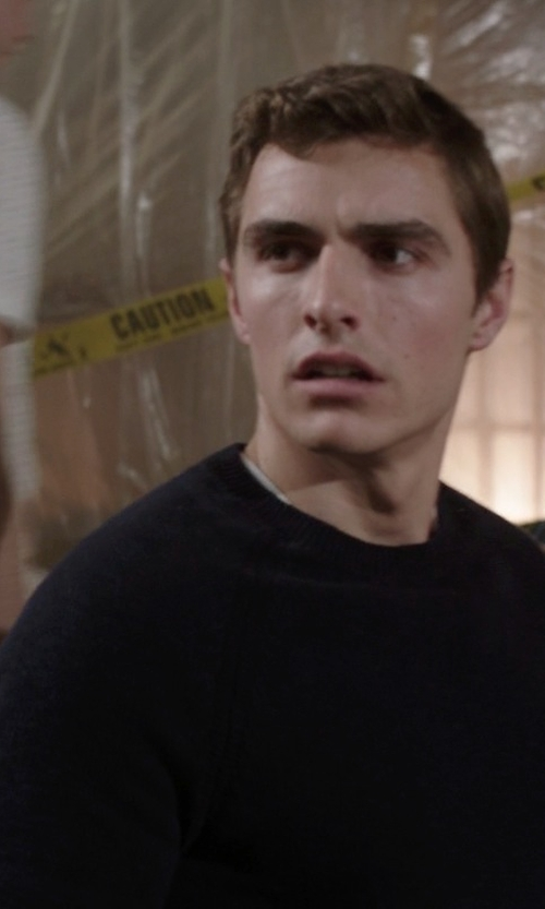 Dave Franco with Roberto Collina Crew Neck Sweater in Neighbors