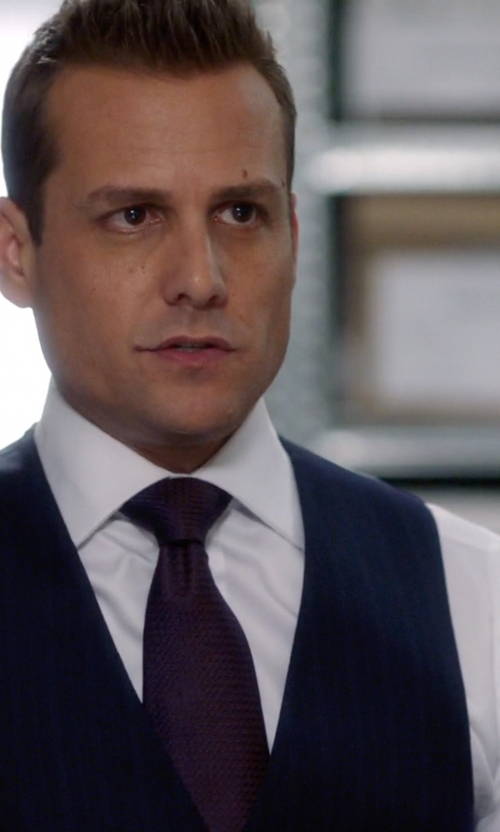 Gabriel Macht with Ike Behar French Cuff Solid Dress Shirt in Suits