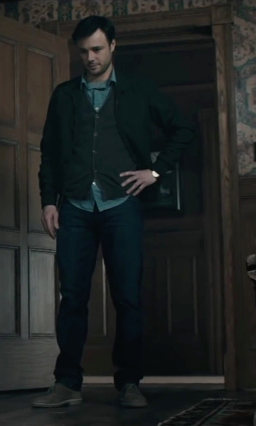 Rupert Evans with Izod Big and Tall Full-Zip Fleece Jacket in The Boy