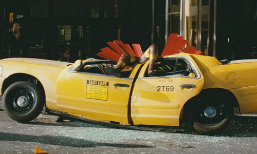 Unknown Actor with Ford Crown Victoria 1999 Car in Kick-Ass