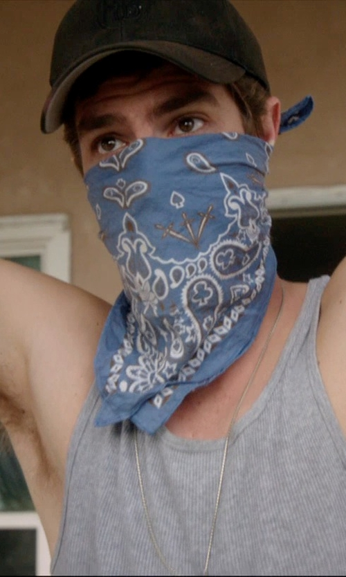 Andrew Garfield with American Apparel Rib Tank Top in 99 Homes