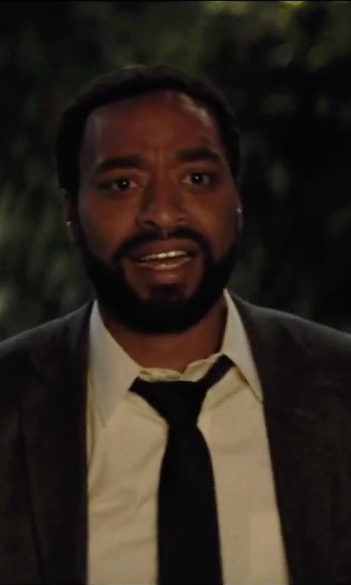 Chiwetel Ejiofor with Nordstrom Solid Satin Silk Tie in Secret in Their Eyes