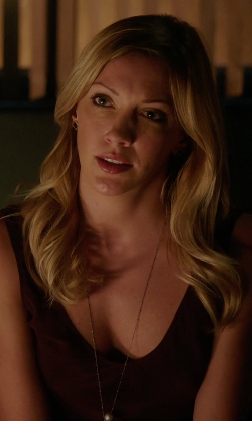 Katie Cassidy with James Perse The Daily Tank Top in Arrow