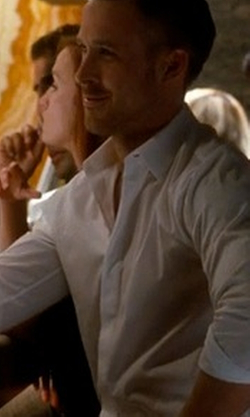 Ryan Gosling with Theory Dover Tuxedo Shirt in Crazy, Stupid, Love.