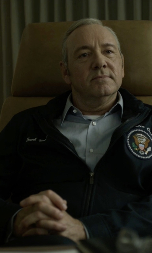 Kevin Spacey with Ermenegildo Zegna Barracuda Blouson Jacket in House of Cards