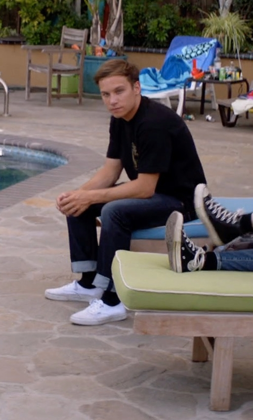Finn Cole with Vans Authentic Sneakers in Animal Kingdom