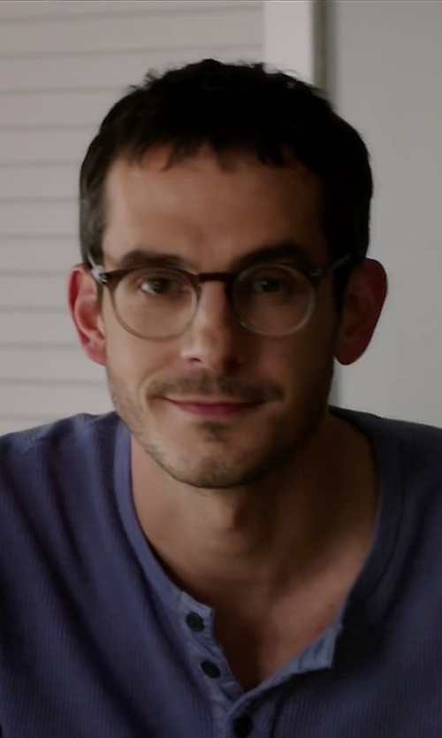 Tate Ellington with Garrett Leight New York Limited Edition Glasses in Quantico