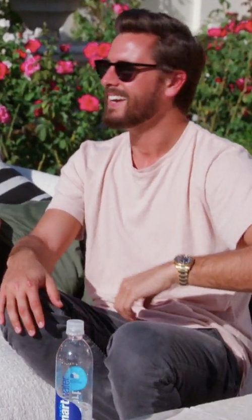 Scott Disick with Saint Laurent Slim-Fit Hem Stretch-Denim Jeans in Keeping Up With The Kardashians