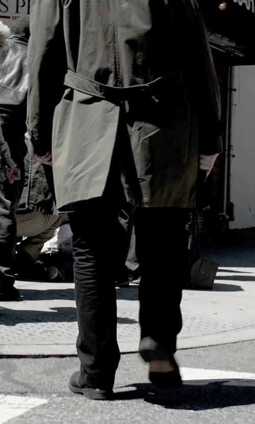 Liam Neeson with A.P.C. Leather Derby Shoes in A Walk Among The Tombstones
