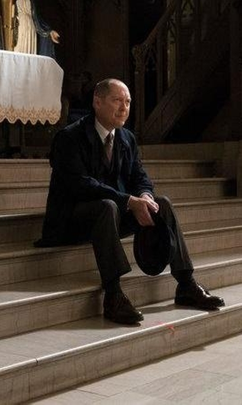 James Spader with Hickey Freeman B Series Flat Front Wool Trousers in The Blacklist