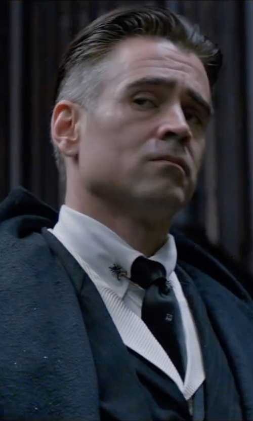 Colin Farrell with Barneys New York Satin Neck Tie in Fantastic Beasts and Where to Find Them