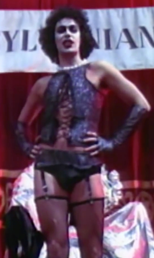 Tim Curry with Sue Blane (Costume Designer) Dr. Frank-N-Furter Sweet Transvestite Costume in The Rocky Horror Picture Show