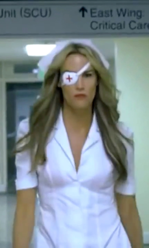 Daryl Hannah with Dickies Button Front Nurse Dress in Kill Bill: Vol. 1