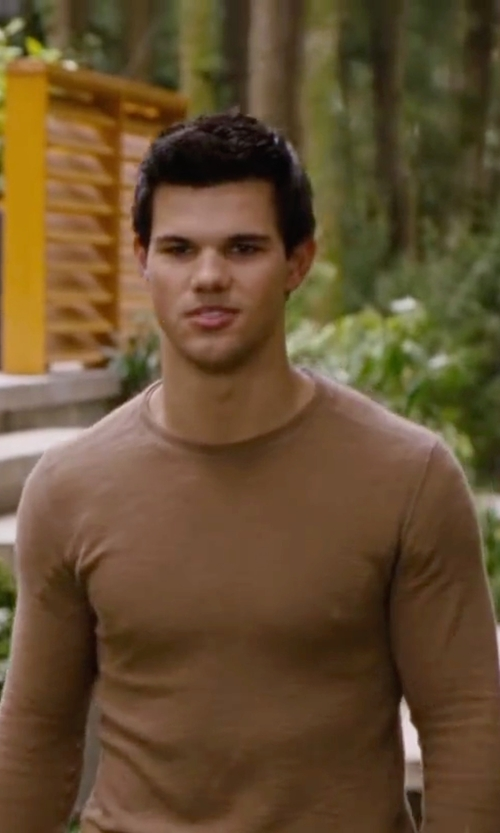 Taylor Lautner with Rykiel Homme Long Sleeve T-Shirt in The Twilight Saga: Breaking Dawn - Part 2