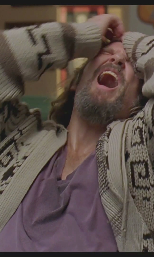 Jeff Bridges with Minerals Short-Sleeve V-Neck T-Shirt in The Big Lebowski