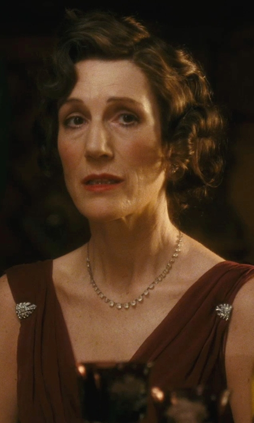 Harriet Walter with Jacqueline Durran (Costume Designer) Custom Made Drape Sleeveless Dress in Atonement