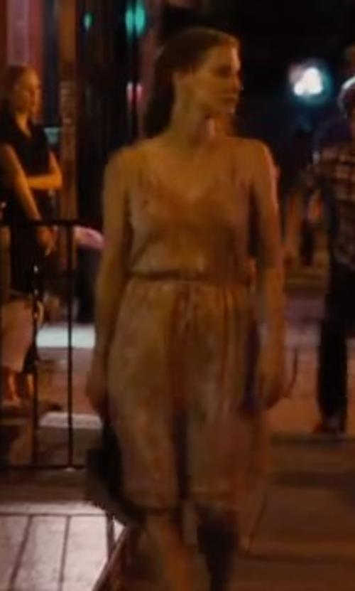 Jessica Chastain with Guess Short dress in The Disappearance of Eleanor Rigby