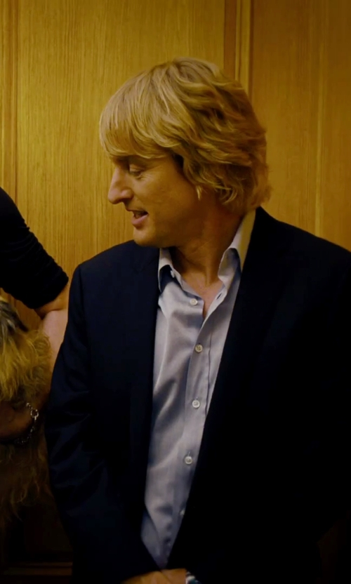 Owen Wilson with Armani Collezioni Twill Two-Button Suit in She's Funny That Way