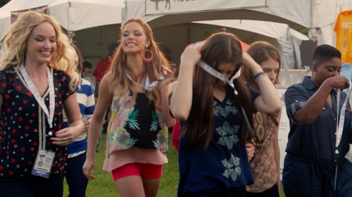 Alexis Knapp with Corey Lynn Calter Tank Top in Pitch Perfect 2
