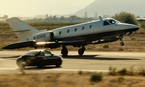 Unknown Actor with Gulfstream G150 Plane in Taken 3