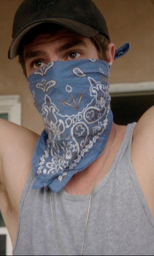 Andrew Garfield with J. Crew Indigo Bandana in 99 Homes