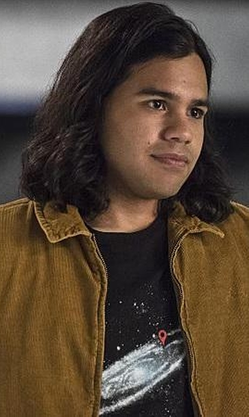 Carlos Valdes with Threadless Last Night T-Shirt in The Flash