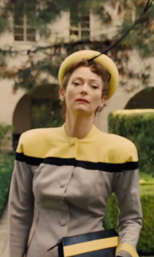 Tilda Swinton with Lands' End Supima Mesh Cardigan in Hail, Caesar!