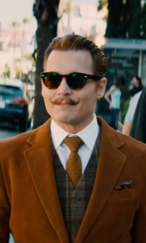 Johnny Depp with Oliver Peoples Afton Round Acetate Sunglasses in Mortdecai