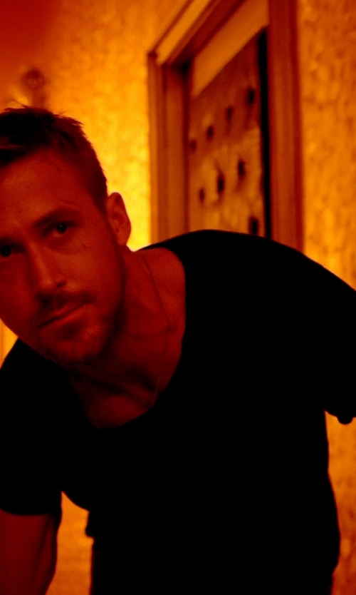 Ryan Gosling with Blk Dnm Scoop Neck T-Shirt in Only God Forgives