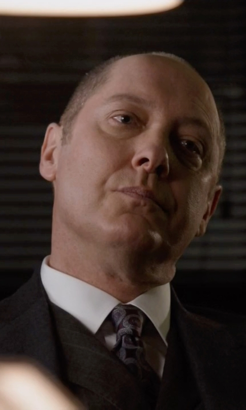 James Spader with Tom Ford Slim-Fit Sharkskin Wool Three-Piece Suit in The Blacklist