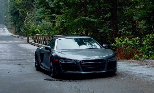 Jamie Dornan with Audi R8 Spyder Car in Fifty Shades of Grey