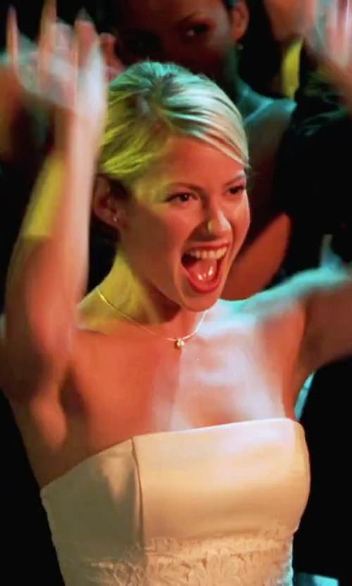 Laura Ramsey with Erin Fetherston  Dahlia Devore Gown in She's The Man