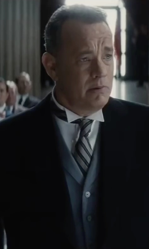 Tom Hanks with Maison Margiela Long Overcoat in Bridge of Spies