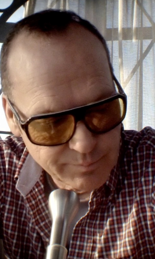 Michael Keaton with Dockers Men's Short Sleeve Black Mini Check Pattern in Need for Speed
