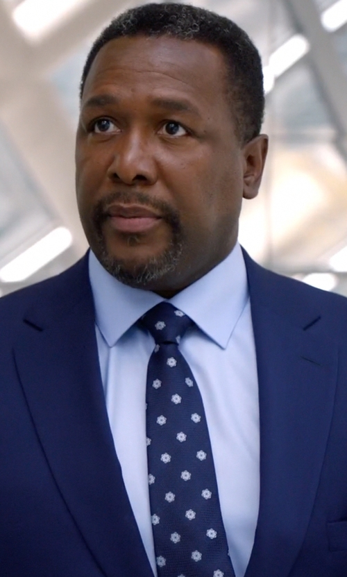 Wendell Pierce with Fairfax Floral Jacquard Necktie in Suits