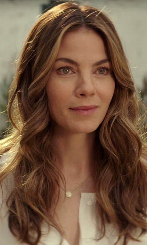 Michelle Monaghan with Ippolita Gold Mini-Lollipop Birthstone Necklace in The Best of Me