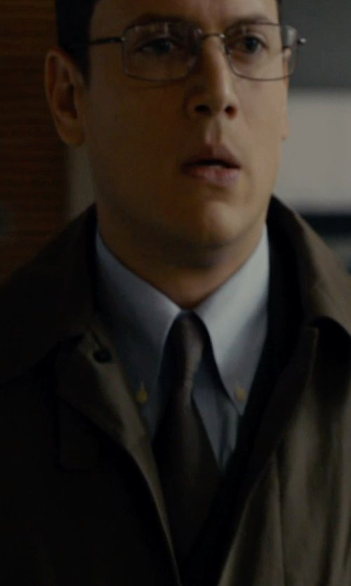 Wentworth Miller with Ermenegildo Zegna	 Solid Woven Silk Tie in The Loft