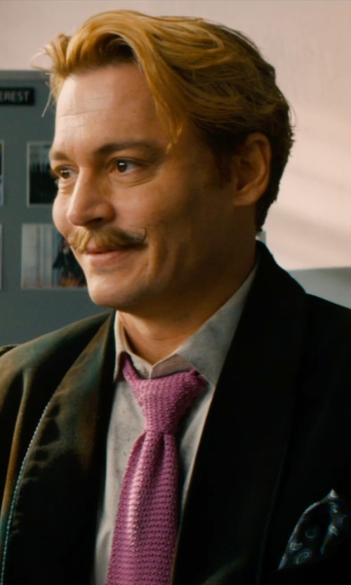Johnny Depp with Gucci Cotton Dress Shirt in Mortdecai