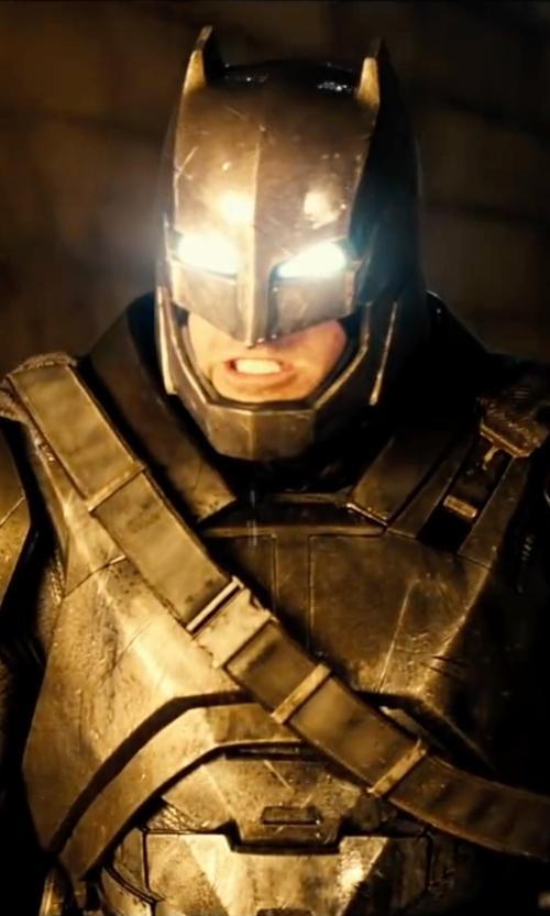 Ben Affleck with Mattel Dawn Of Justice Batman Armor Figure in Batman v Superman: Dawn of Justice